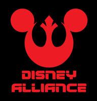 Disney Alliance shirt star wars Rebel t-shirt Men's Mens Disney Star Wars Mickey