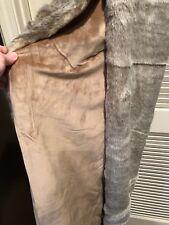 FRONTGATE Luxury Grayish FOX Faux Fur Bed Runner Bed Scarf Throw Pet Blanket
