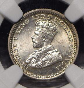 Hong Kong 1932 5 Cents NGC MS62 NG0918 combine