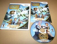 Star Wars The Clone Wars Lightsaber Duels for Nintendo Wii Complete