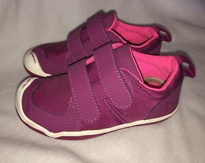 PLAE Lucien Leather Nylon Sneakers TODDLER GIRLS Size 9 Fuchsia Pink NEW