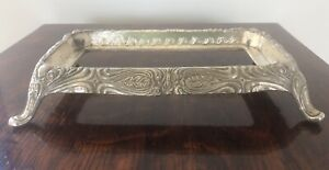 """Vintage silver plated base interior 7.5"""" x 3.5"""" exterior 9"""" x 5.5"""""""