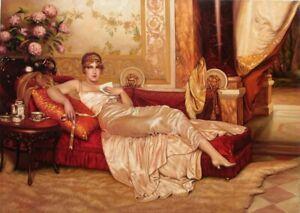 Original Vintage Portrait Custom Lady Antique Portrait Artwork Artist Art Canvas