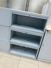 More details for 48cm tall tambour door metal office storage cabinet no shelves grey unit walton