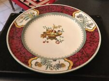 """Antique Victorian 10"""" Minton Dinner Plate Red CHINESE BLOSSOM - C1563 Pattern"""
