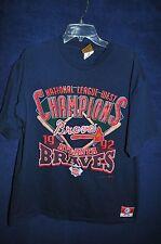 Vintage '90s Atlanta Braves 1992 National League Champions blue t shirt XL USA