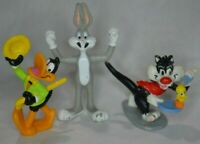 1990's WB Looney Tunes Applause PVC lot of 3 Bugs Bunny Daffy Sylvester Tweety