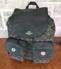 COACH BILLIE SIGNATURE 54795 GREY BLACK BACKPACK BAG HANDBAG PURSE BACK PACK