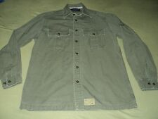 Mens Vintage Tommy Hilfiger Military Style Long Sleeve Button Up Shirt Size S