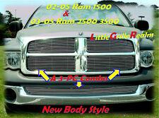 02-05 2002 03 04 2004 2005 Dodge Ram Billet Grille 3PC