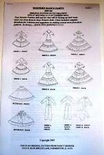 NG Creations Sewing Pattern #PP4 Western Dance fits Barbie & Ken Dolls