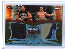 TNA Chavo Guerrero & Hernandez 2013 Impact LIVE GOLD Dual Relic Card SN 34 of 50