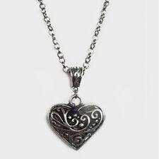 bijou gothique celtique victorien Collier coeur de Caroline + perle lapis lazuli