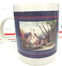 Thomas Kinkade Morning Glory Cottage Coffee Cup Mug Painter Of Light H-3 3/4 x 3