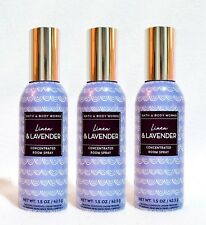 3 Bath & Body Works LINEN & LAVENDER Mini Room Spray Perfume 1.5 oz ea