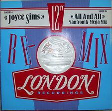 LP Joyce Sims All And All (Mantronik Mega Mix) Vinyl Single 12inch NEAR MINT