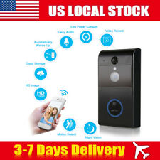 WiFi Wireless Visual Doorbell Remote Phone Security 720P Camera 2-Way Recording