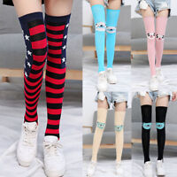 Women Girl Thigh High Socks Casual Comfortable Catoon Over Knee High Thigh Socks