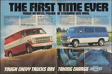 1982 Vintage ad for Chevrolet V8 diesel power /standard Vans Blue red  071817