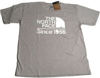 North Face Mens Field Tee Shirt Big Logo Light  Gray Heather Size Large NWT