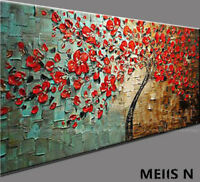 M&S-Huge Modern Abstract Hand-Painted Oil Painting Art Deco Wall On Canvas