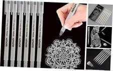 White Gel Ink Pens - 0.8MM Fine Tip, for Artists, Drawing, Sketching, Black