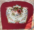 ANTIQUE AUBUSSON FRENCH HAND WOVEN SILK TAPESTRY CUSHION 28 X 32 Inches