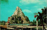 Vtg 1960s Disneyland Postcard - Monorail Matterhorn 1-339 - Unposted