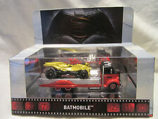 Hot Wheels CUSTOM BATMAN BATMOBILE w/ 1938 FORD COE In Display Case