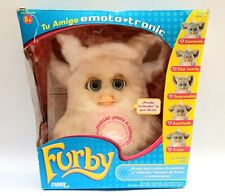 Rare Furby 2005 model 59294 emoto tronic BABY PINK cream fur blue eyes COMPLETE