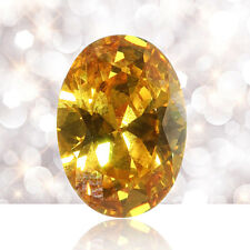 10pcs 10*14mm Synthetic Gems Golden Yellow Cubic Zirconia Stone Oval For Jewelry