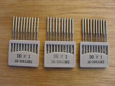 NEEDLES FOR INDUSTRIAL STRAIGHT SEWERS DBX1 100/16 BALL POINT THIN SHANK X 30