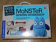 Monster Sewing Workshop Geek & Co. Kids Craft Kit Thames & Kosmos Stuffed Animal