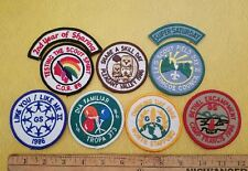 Lot of 9 Girl Scout 1986 Vintage new old stock NOS sew on patches patch Spanish