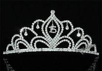 Sweet 15 & 16 Sparkling Crystal Quinceanera Crown Tiara CT1529