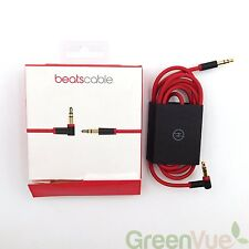 NEW GENUINE Apple Beats Cable by Dr. Dre 4.5' 3.5mm Audio Cable Red MHE12G/A