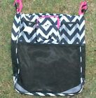 Baby Cart Stroller Bag Storage Organizer Wheelchair Gray Black Pink Chevron NEW