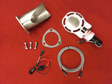 """NEW! Electric Exhaust Cutout BadlanzHPE """"Y-Neck"""" SINGLE 2.0"""" 51mm SS  5 YR WTY!"""