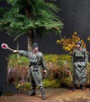 1/35 Resin Figure Model Kit German Soldiers Waffen-SS WWII Unpainted Unassambled