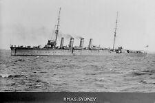 HMAS SYDNEY Australian Warship 1st Anzac Convoy 1914 modern digital Postcard