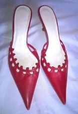 Zara Kitten 100% Leather Heels for Women