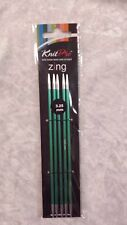 Knit Pro Zing Double Pointed Needles 3.25mm x 150mm N047006
