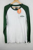 DICKIES Mens T Shirt BASEBALL WORKWEAR LONG Sleeve REGULAR Fit XL P3