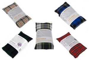 Tartan Microwave Herbal Wheat Heat Bag Unscented Pain Relief Hot & Cold Therapy