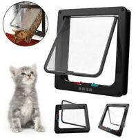 4 Way S/M/L/XL Size Pet Cat Puppy Dog Supplies Lock Lockable Safe Flap Door GA8A