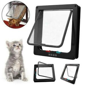 4 Way S/M/L/XL Size Pet Cat Puppy Dog Supplies Lock Lockable Safe Flap DoorS.li