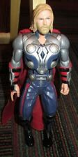 "2012 MARVEL MIGHTY STRIKE THOR 10"" TALKING ACTION FIGURE, CLOTH CAPE, NO HAMMER"