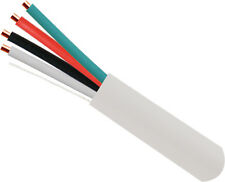 22/4 Burglar Alarm-Security Cable, Stranded COPPER, 1000FT WHITE, FREE SHIP