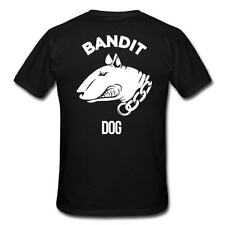 Bandit Dog t-shirt bullterrier pit bull lucha perro perro blanco sobre negro s-3 XL