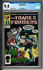 Transformers #7 (1985) CGC 9.4 WHITE! Megatron! Bright & Joyce cover!